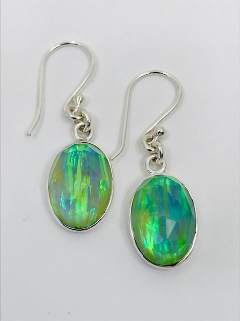 Green Opal Quartz Earrings
